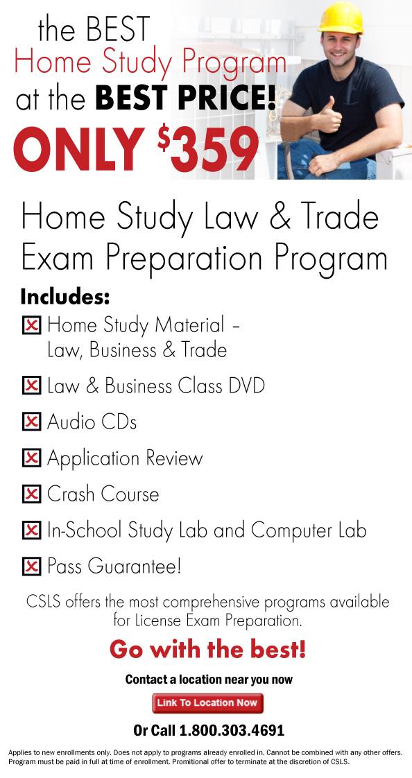 California Contractor License Contractor Home Study